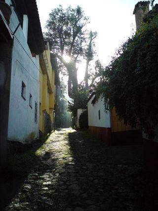 Sol y sombre callejón